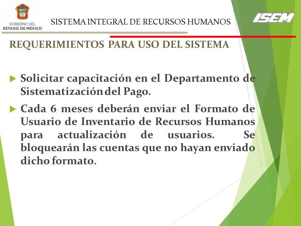 SISTEMA INTEGRAL DE RECURSOS HUMANOS (SIRH WEB) sitio https ...