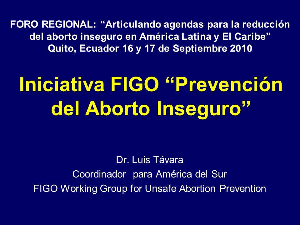Iniciativa FIGO Prevención del Aborto Inseguro