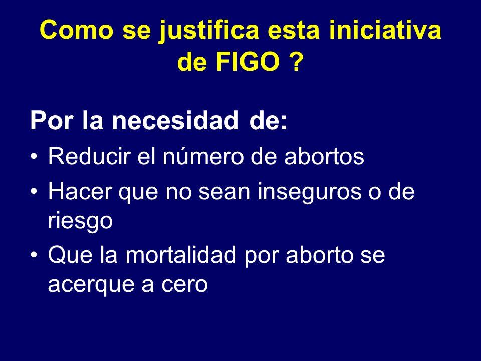 Como se justifica esta iniciativa de FIGO