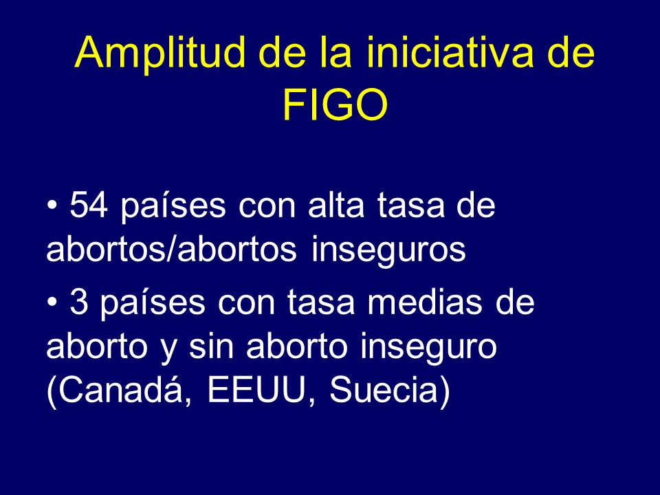Amplitud de la iniciativa de FIGO