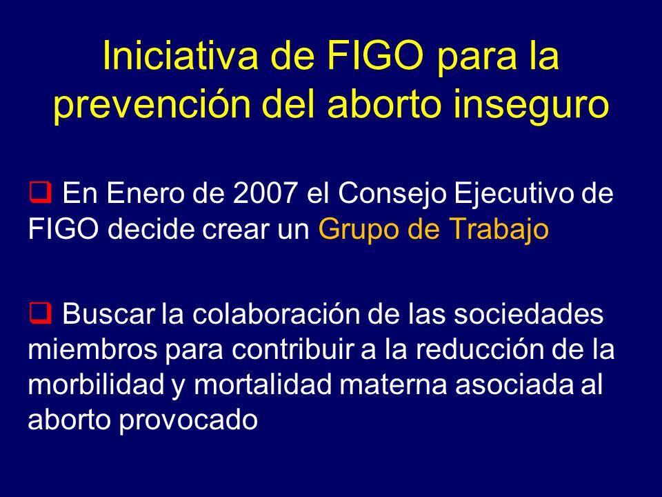 Iniciativa de FIGO para la prevención del aborto inseguro