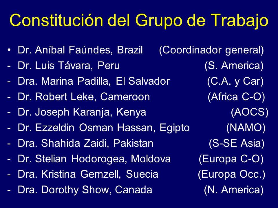 Constitución del Grupo de Trabajo