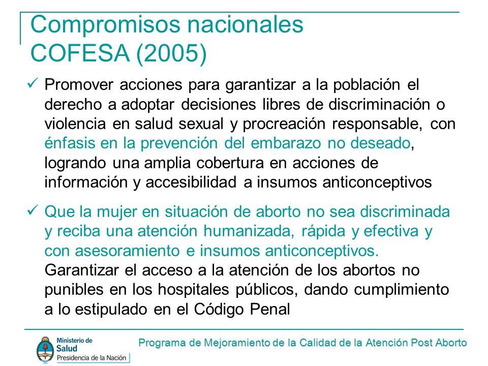Compromisos nacionales COFESA (2005)