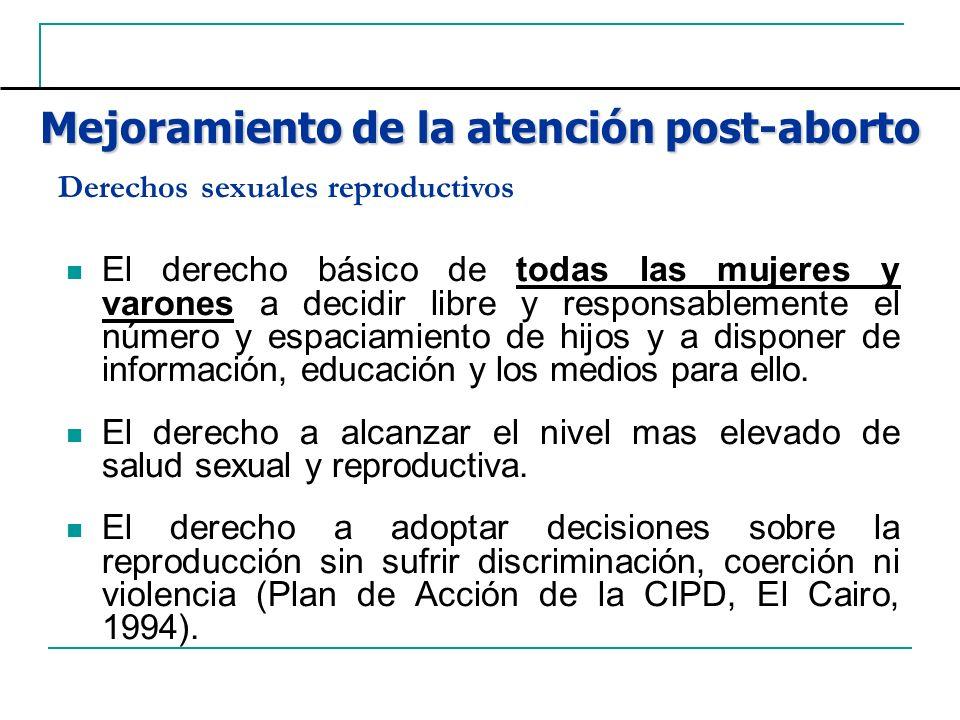Mejoramiento de la atención post-aborto