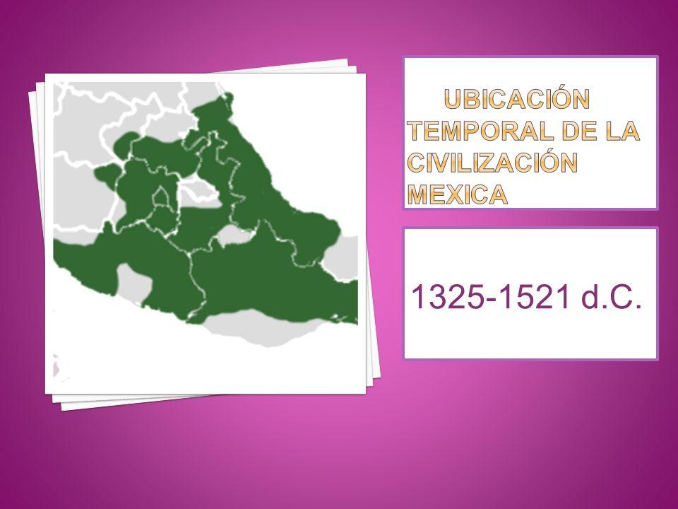 Ubicación temporal de la civilización mexica