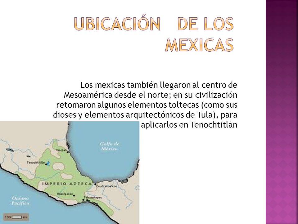 Ubicación de los mexicas