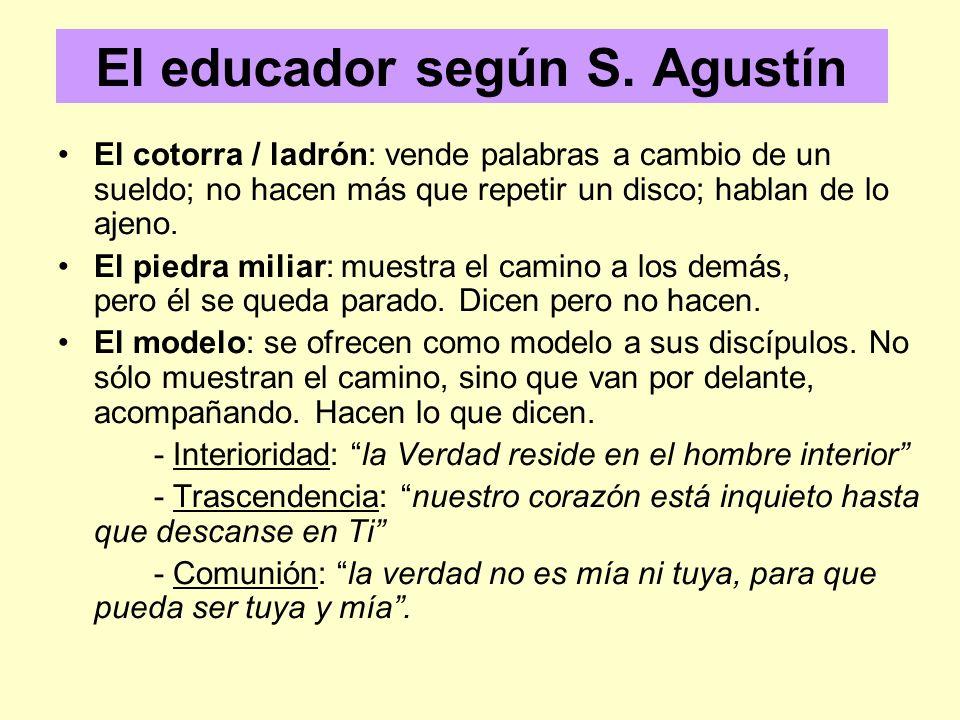 El educador según S. Agustín