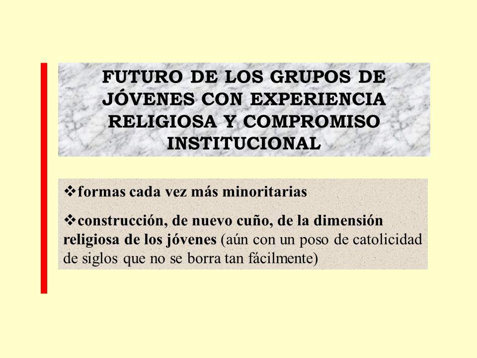 FUTURO DE LOS GRUPOS DE JÓVENES CON EXPERIENCIA RELIGIOSA Y COMPROMISO INSTITUCIONAL