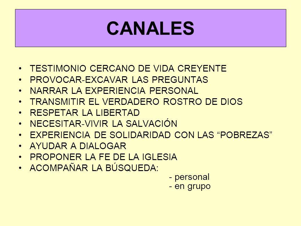 CANALES TESTIMONIO CERCANO DE VIDA CREYENTE