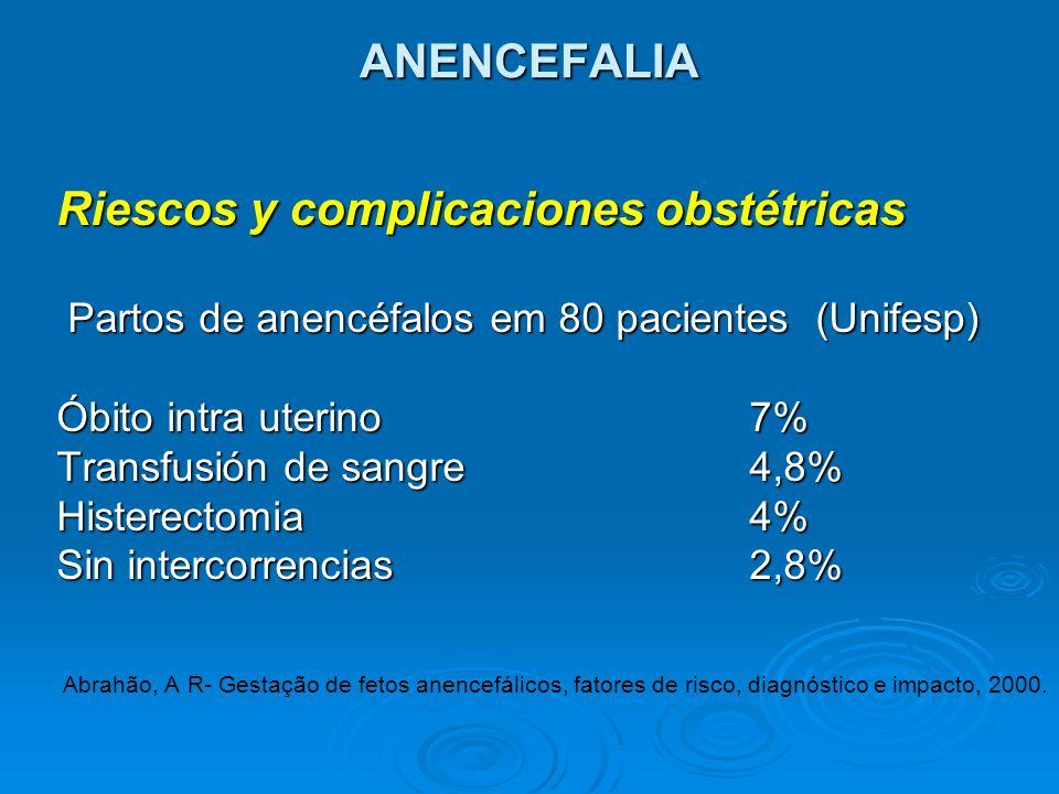 Riescos y complicaciones obstétricas