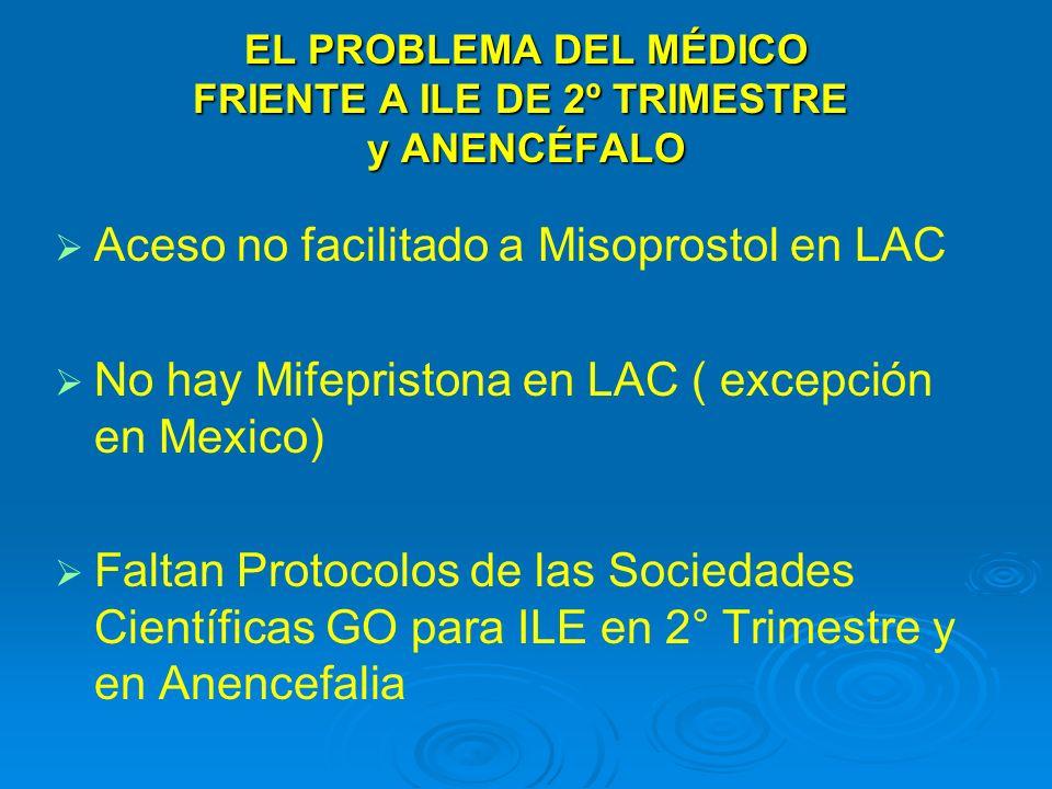EL PROBLEMA DEL MÉDICO FRIENTE A ILE DE 2º TRIMESTRE y ANENCÉFALO