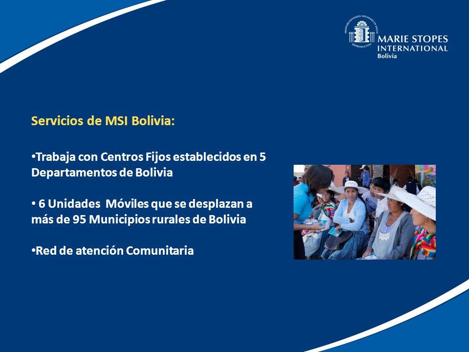 Servicios de MSI Bolivia: