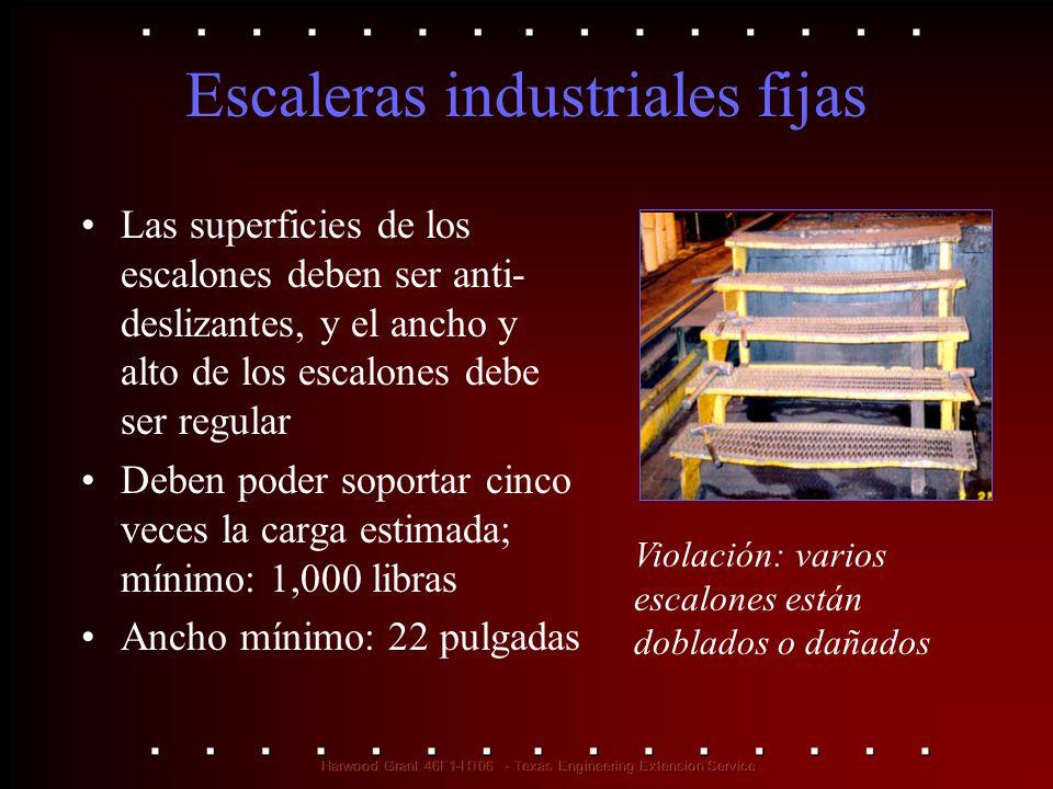 Escaleras industriales fijas