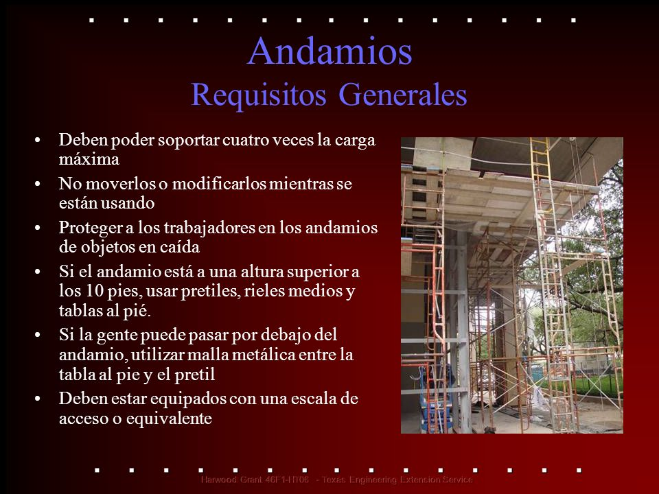 Andamios Requisitos Generales