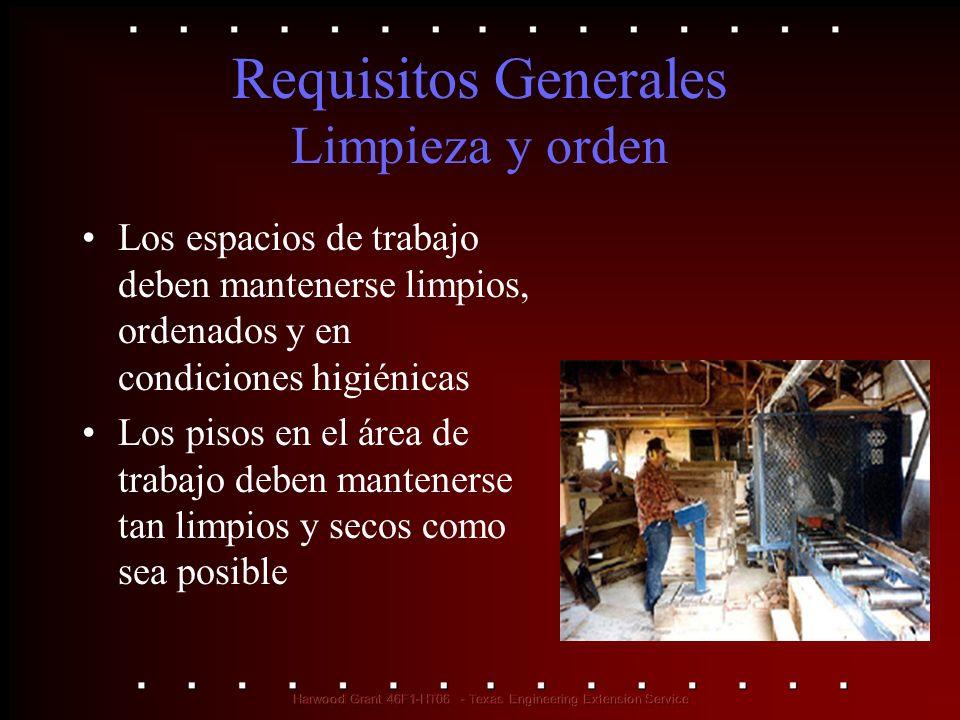 Requisitos Generales Limpieza y orden