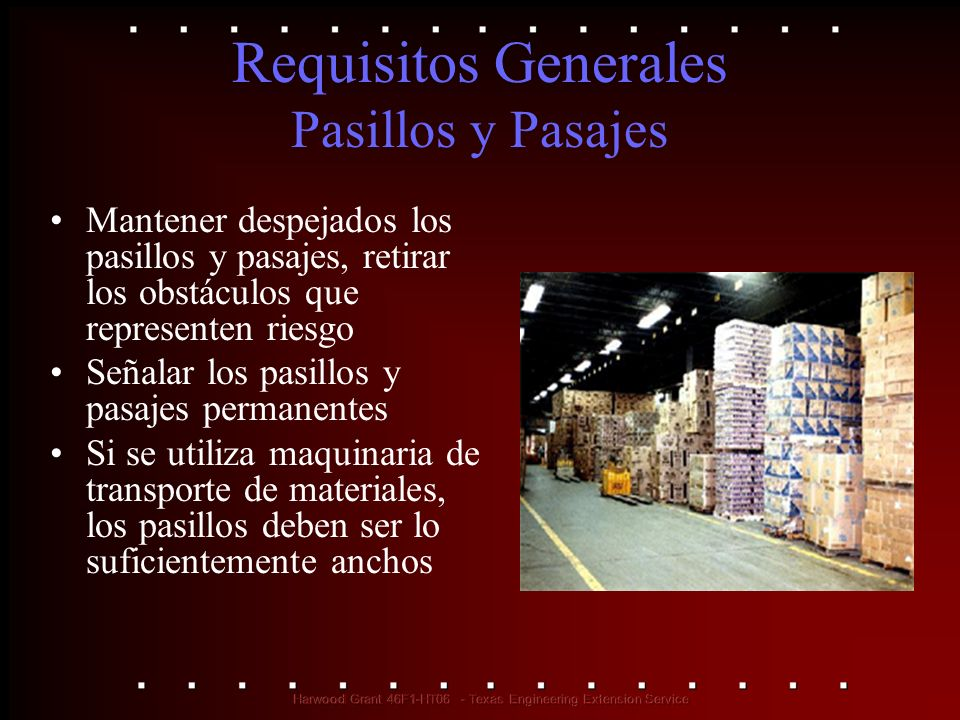 Requisitos Generales Pasillos y Pasajes