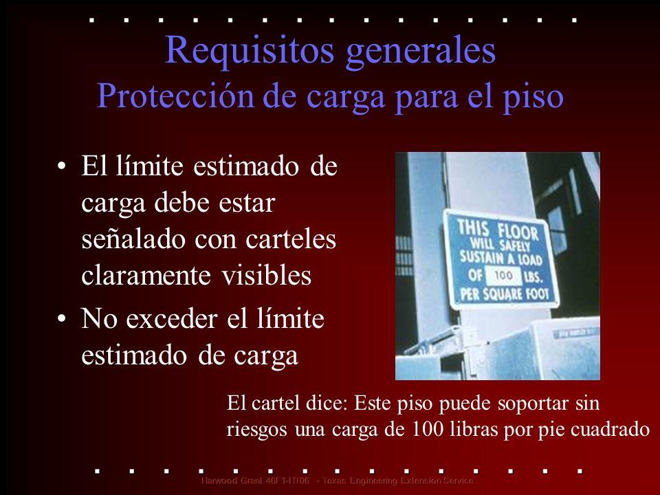 Requisitos generales Protección de carga para el piso