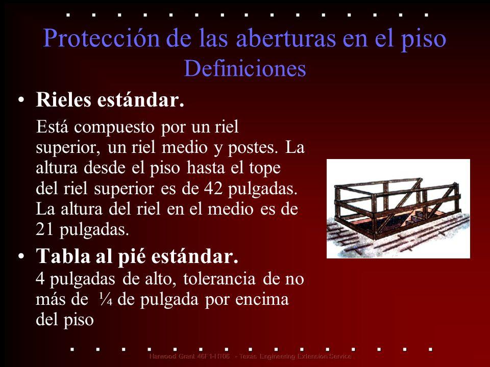 Protección de las aberturas en el piso Definiciones