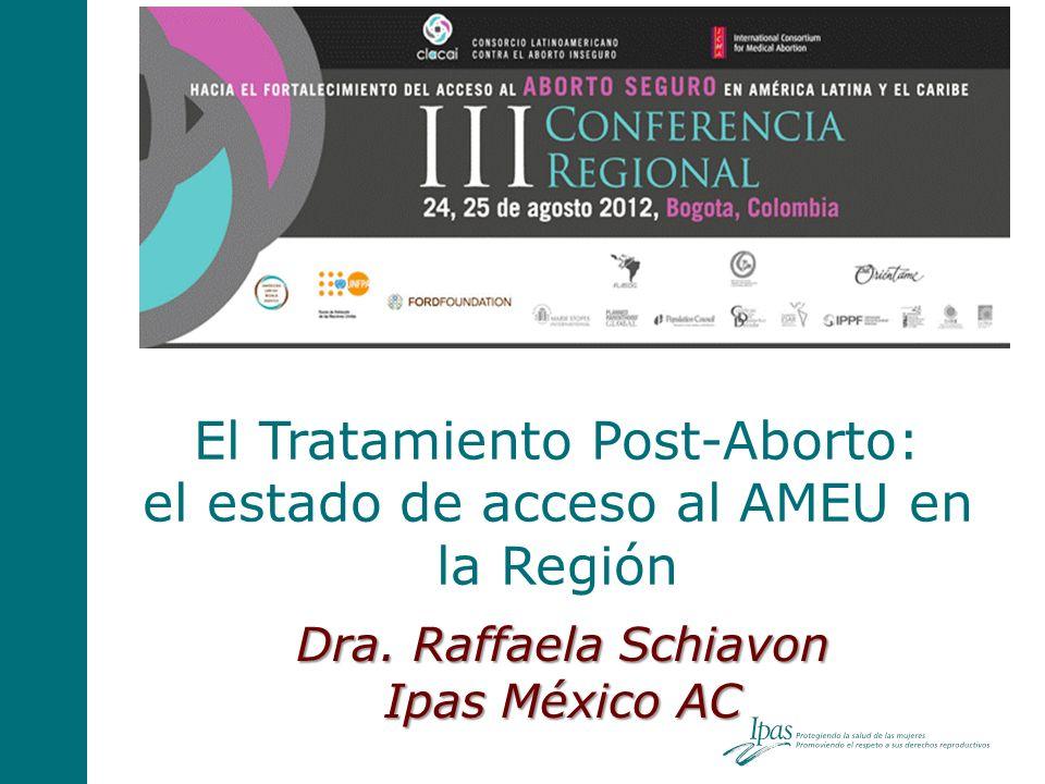 El Tratamiento Post-Aborto: el estado de acceso al AMEU en la Región