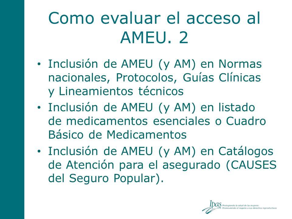 Como evaluar el acceso al AMEU. 2