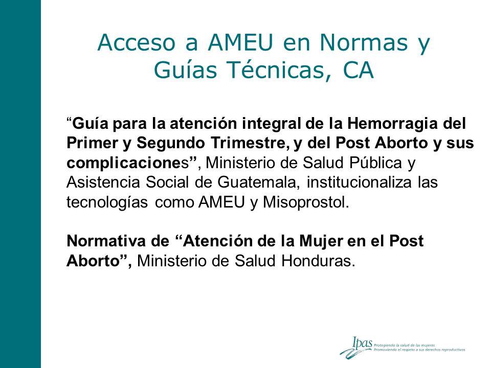 Acceso a AMEU en Normas y Guías Técnicas, CA