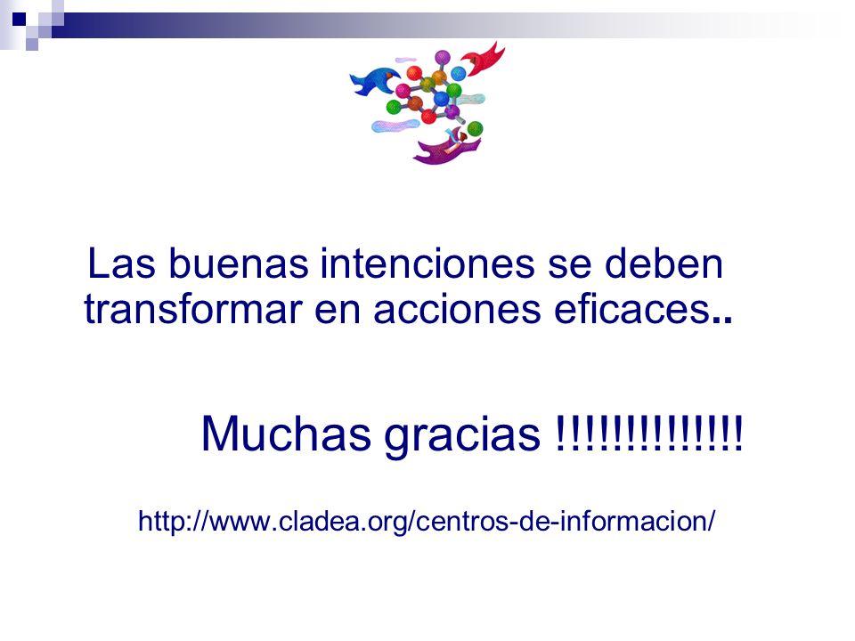 Las buenas intenciones se deben transformar en acciones eficaces..