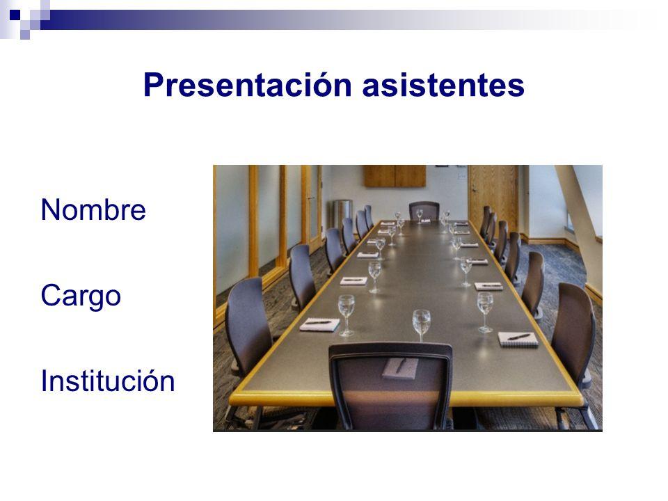 Presentación asistentes
