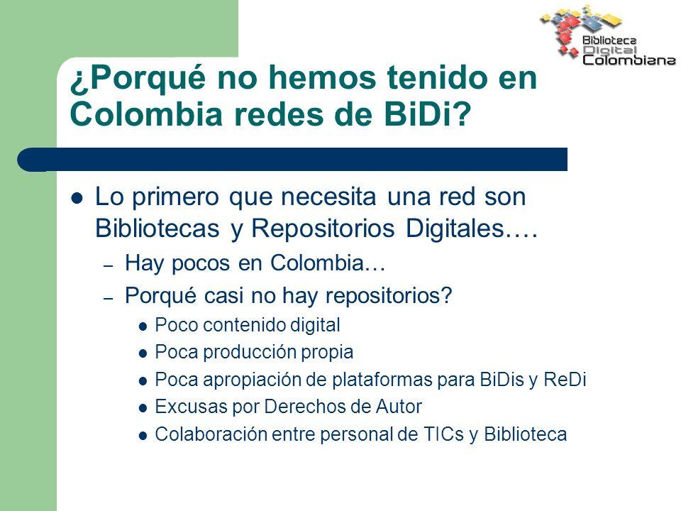 ¿Porqué no hemos tenido en Colombia redes de BiDi