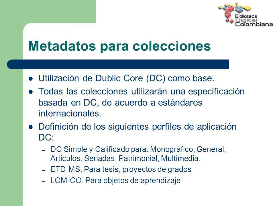 Metadatos para colecciones