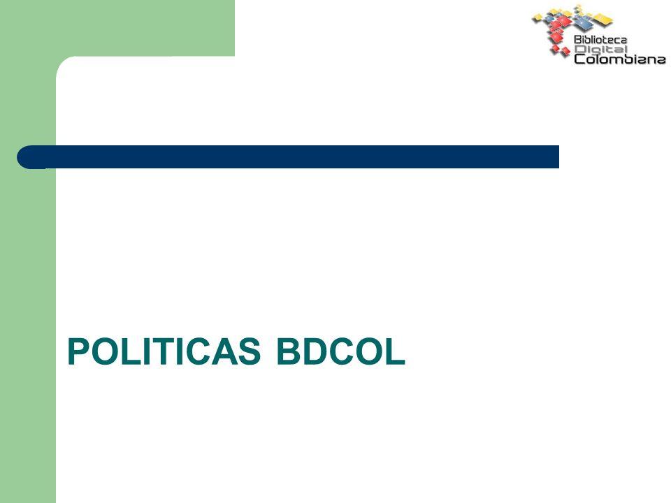 POLITICAS BDCOL
