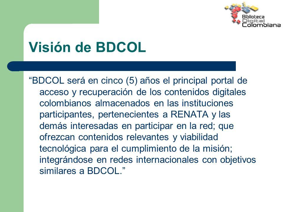 Visión de BDCOL