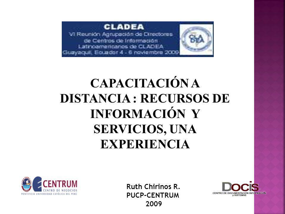 CAPACITACIÓN A DISTANCIA : RECURSOS DE