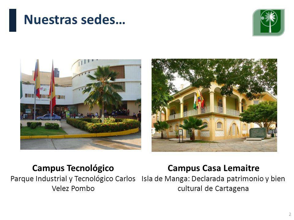 Nuestras sedes… Campus Tecnológico Campus Casa Lemaitre