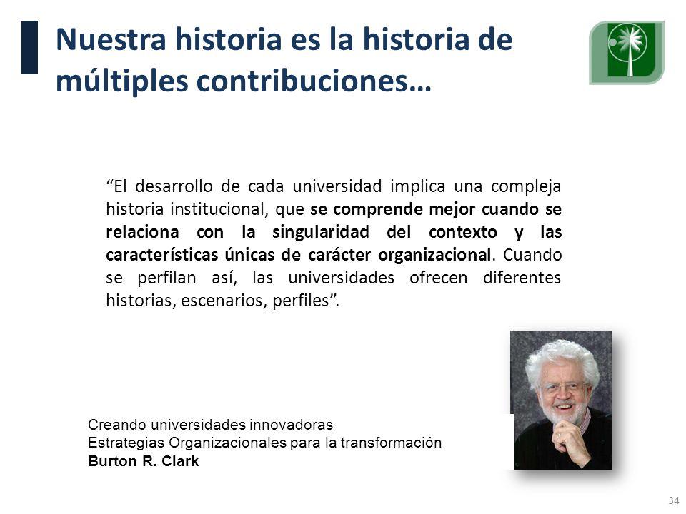 Nuestra historia es la historia de múltiples contribuciones…