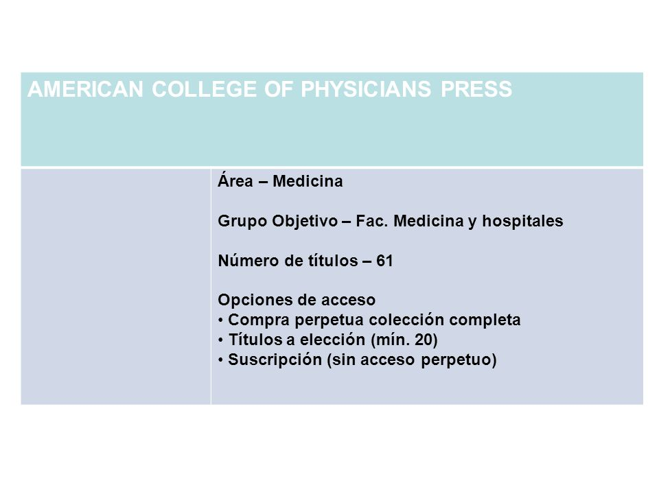 AMERICAN COLLEGE OF PHYSICIANS PRESS