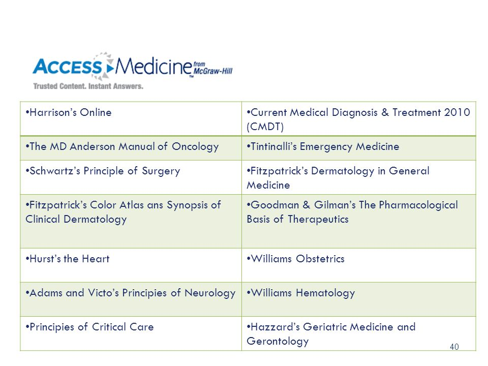Current Medical Diagnosis & Treatment 2010 (CMDT)