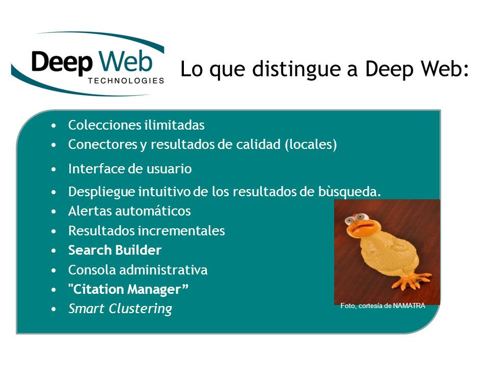 Lo que distingue a Deep Web: