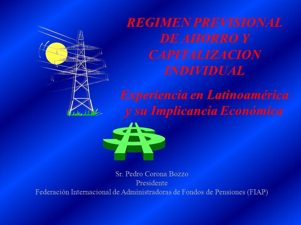 REGIMEN PREVISIONAL DE AHORRO Y CAPITALIZACION INDIVIDUAL