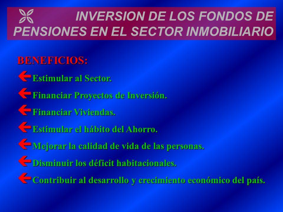 INVERSION DE LOS FONDOS DE PENSIONES EN EL SECTOR INMOBILIARIO