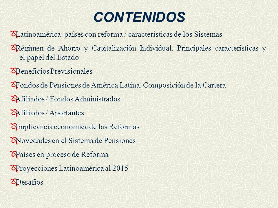 CONTENIDOSLatinoamérica: países con reforma / características de los Sistemas.