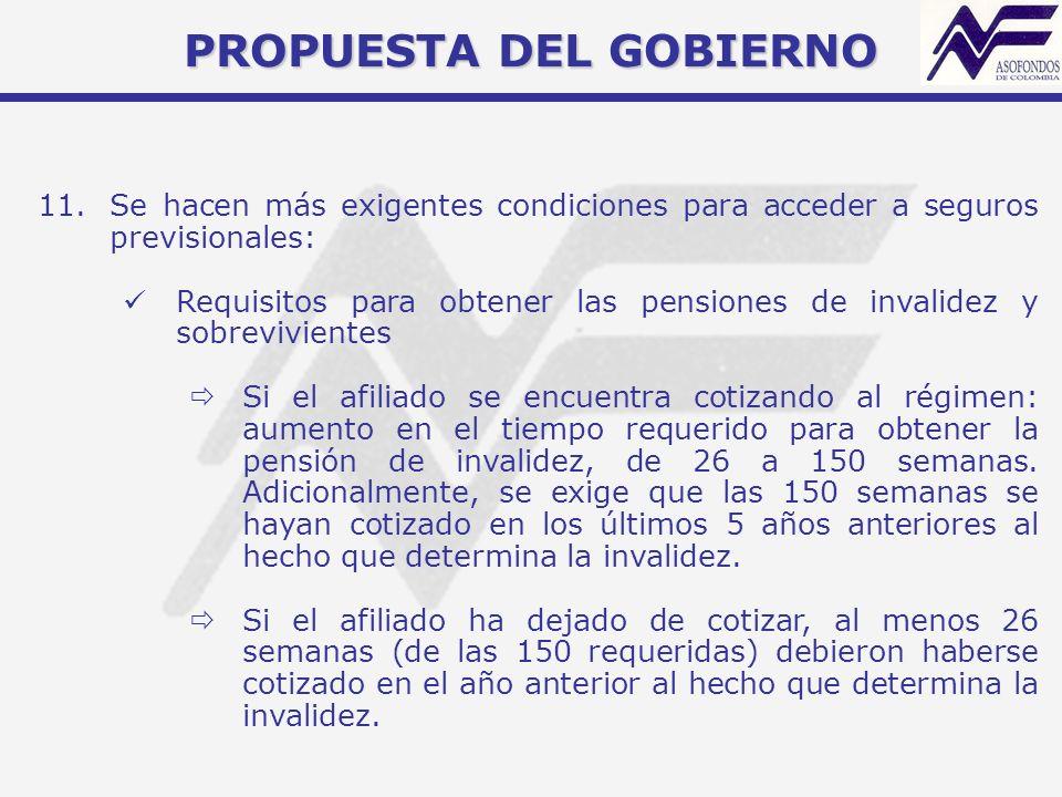 PROPUESTA DEL GOBIERNO