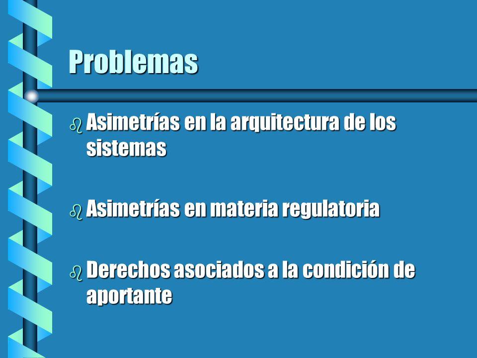 Problemas Asimetrías en la arquitectura de los sistemas