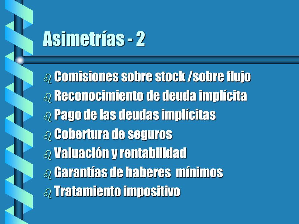 Asimetrías - 2 Comisiones sobre stock /sobre flujo