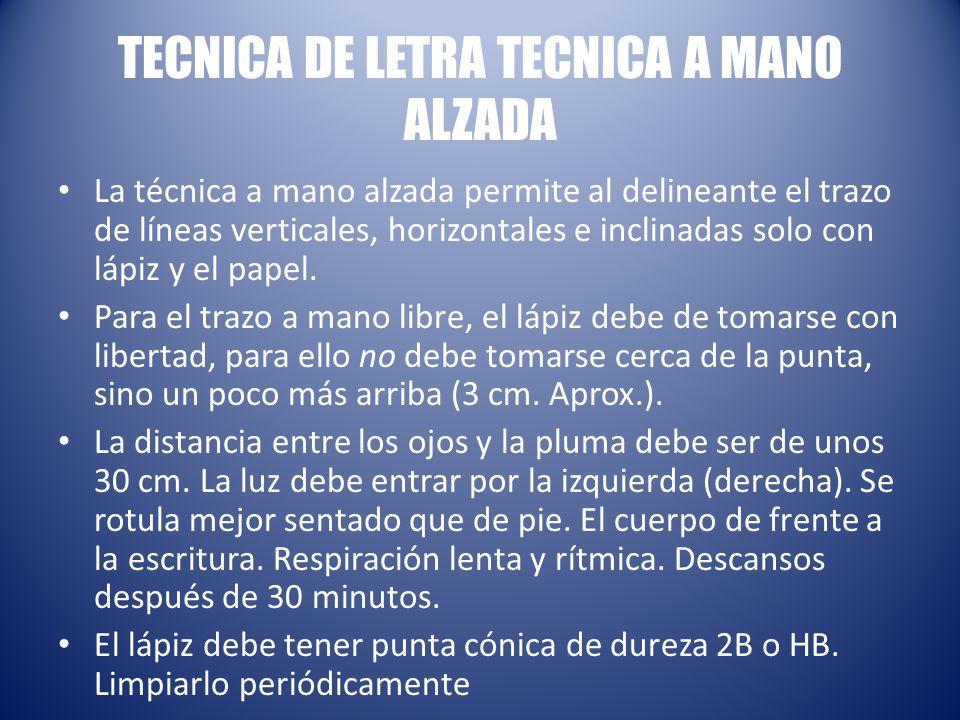 TECNICA DE LETRA TECNICA A MANO ALZADA