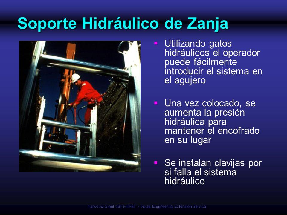 Soporte Hidráulico de Zanja