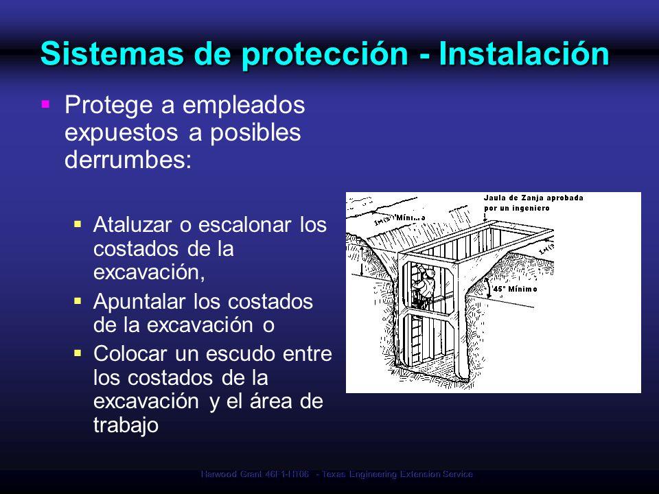 Sistemas de protección - Instalación
