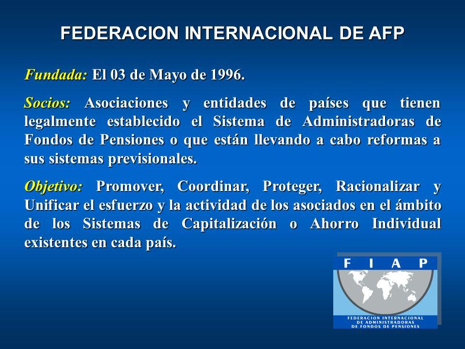 FEDERACION INTERNACIONAL DE AFP