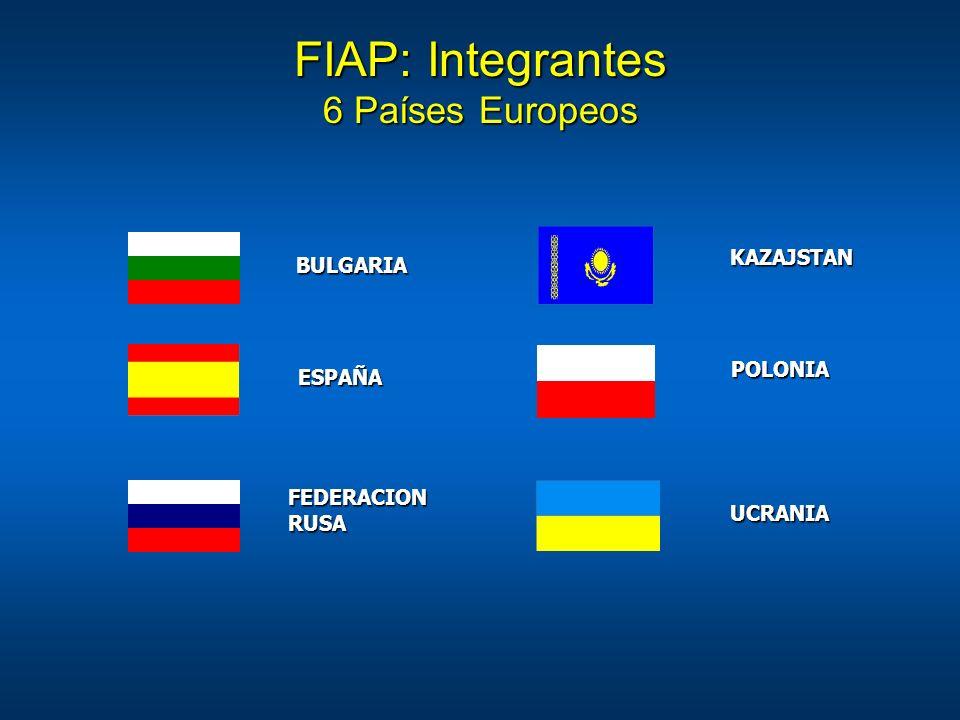 FIAP: Integrantes 6 Países Europeos KAZAJSTAN BULGARIA POLONIA ESPAÑA