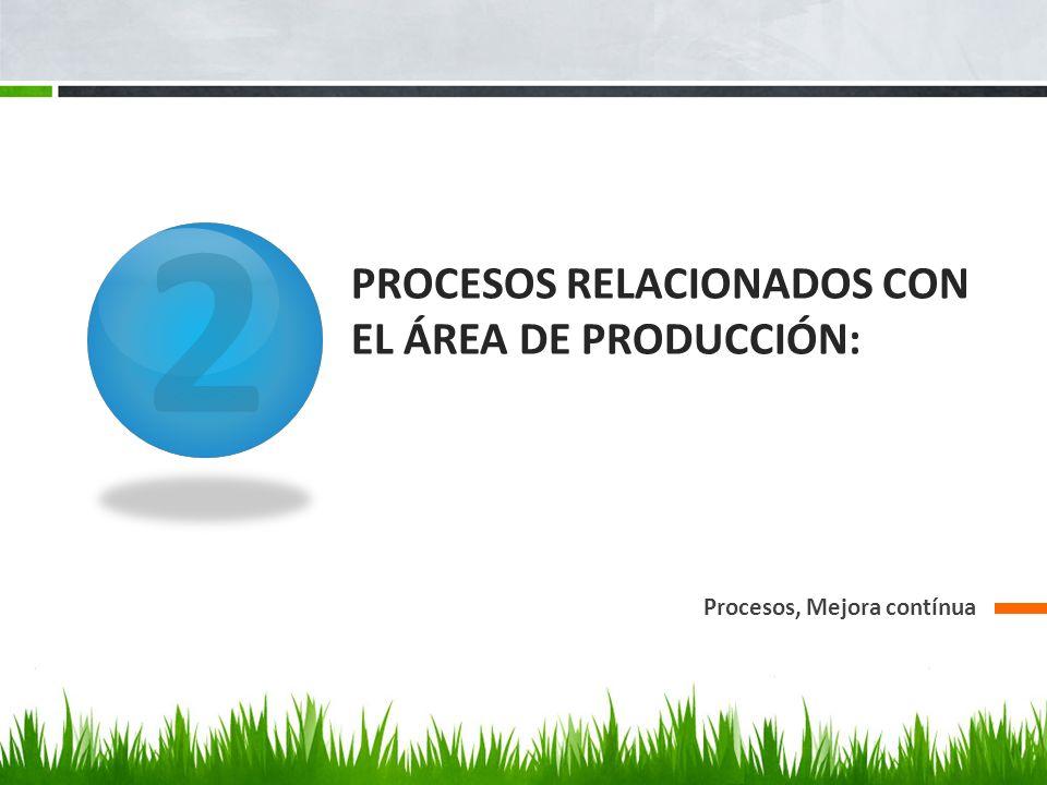 Procesos relacionados con el área de producción: