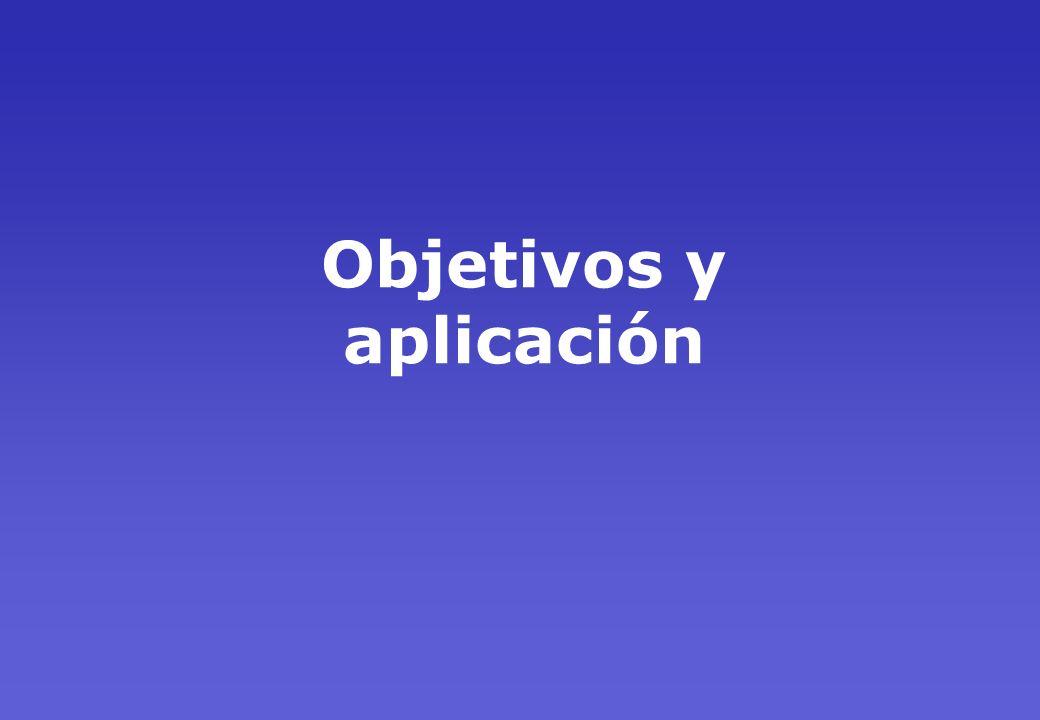 Objetivos y aplicación